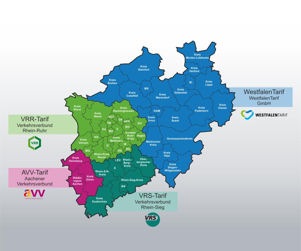 Verbundtarife in NRW ab August 2017