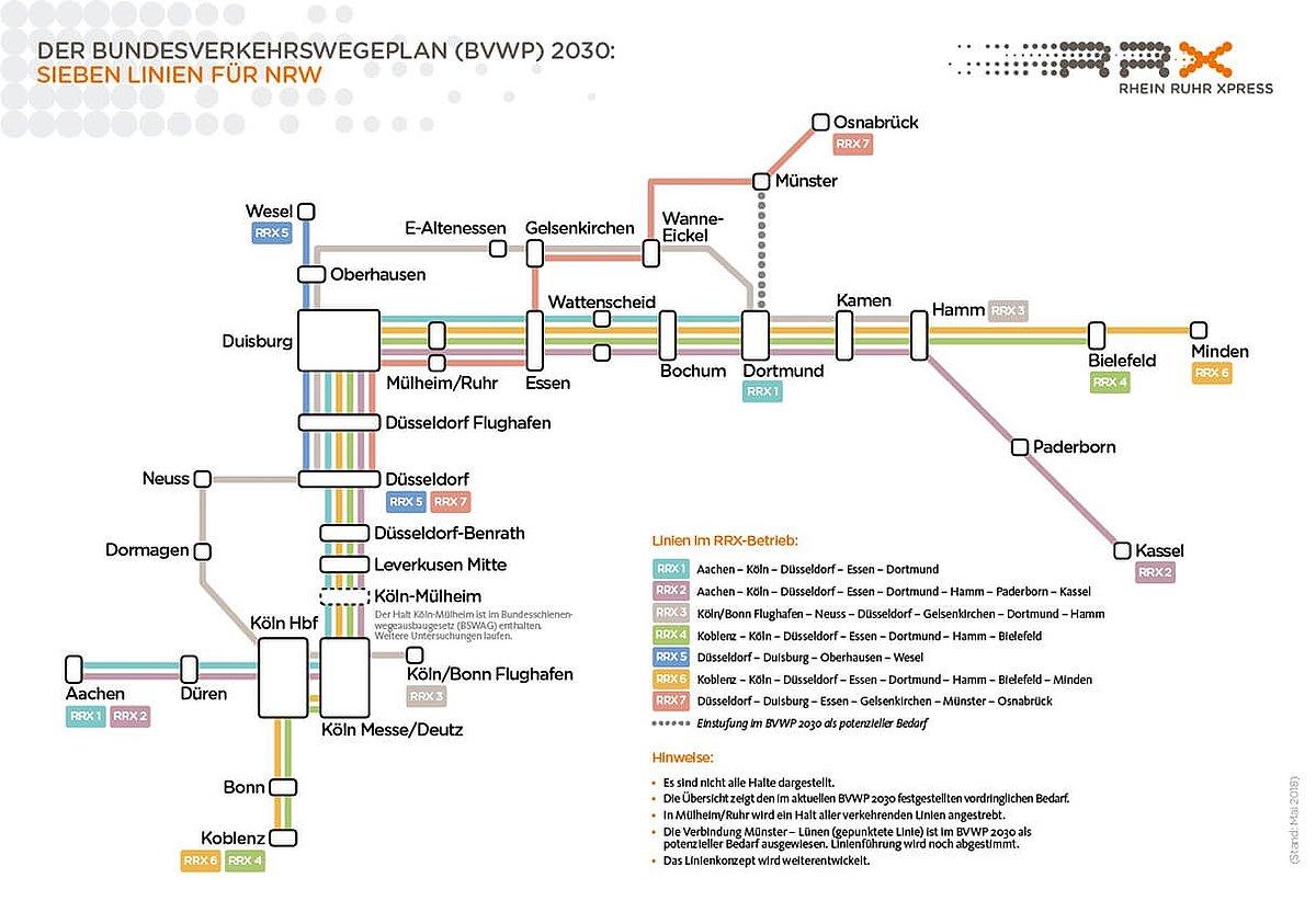 RRX-Liniennetz (BVWP 2030)